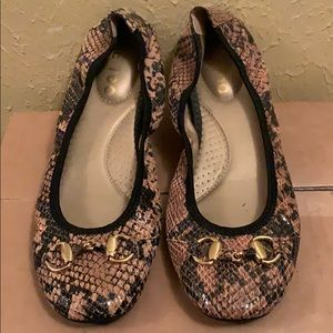 Me Too Faux Snakeskin Flats Shoes